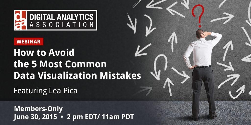 My Data Visualization Webinar with the Digital Analytics Association (DAA)