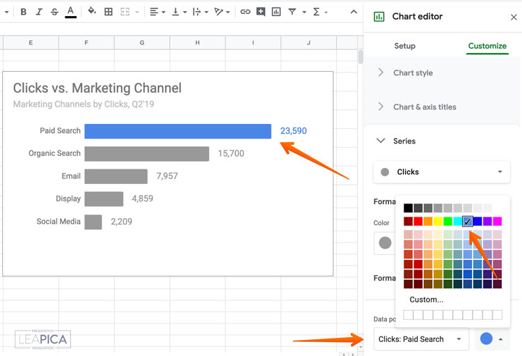 How to Make a Bar Graph in Google Sheets Brain-Friendly
