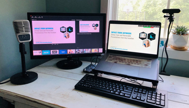 Zoom Tips for Online Presenting - Present using second monitor