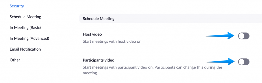 Zoom Tips for Online Presenting - Mute participant audio / video