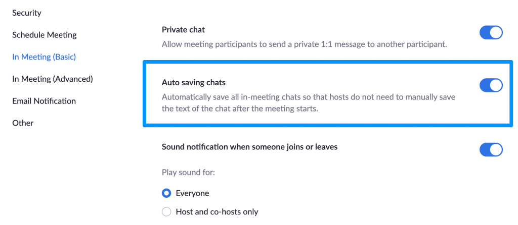 Zoom Tips for Online Presenting - Auto-save chat log