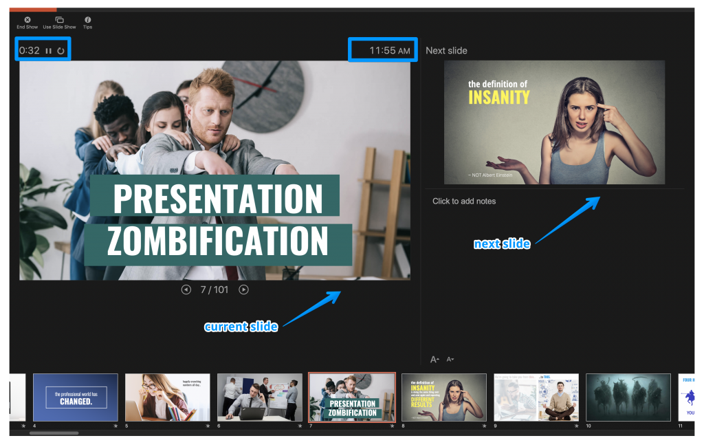 Zoom Tips for Online Presenting - PowerPoint Presenter View