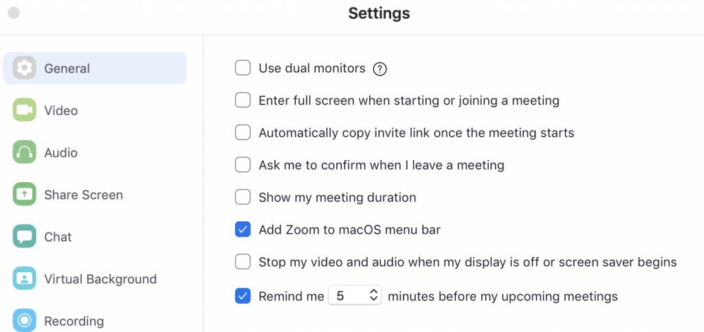Zoom Tips for Online Presenting - Zoom Desktop Settings
